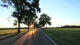 Drining - POV driving shot landscape Germany