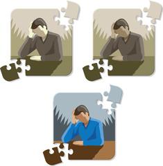 Depressed/Stressed man puzzle