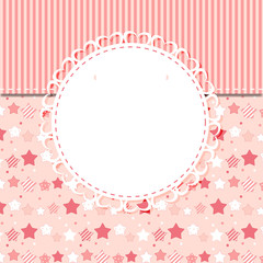 Cute Frame Vector Illustration