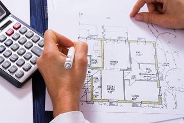 Berechnungen am Bauplan