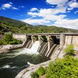 Dam in Puente Domingo Florez, Leon, Spain
