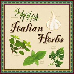 Italian Herbs, Rosemary, Garlic, Oregano, Sweet Basil, Parsley