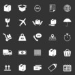 Shipping icons on black background