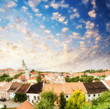 Cesky Krumlov, Czech Republic. Beautiful city medieval skyline a