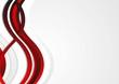 Red waves vector art design