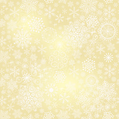 Seamless gold christmas pattern