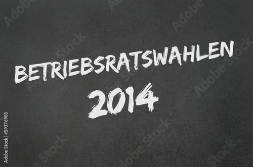 canvas print picture Betriebsratswahl 2014