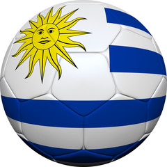 Uruguayan Flag With Soccer Ball