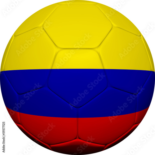 Colombian Flag With Soccer Ball