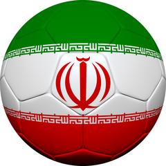 Iranian Flag With Soccer Ball