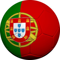 Portuguese Flag With Soccer Ball