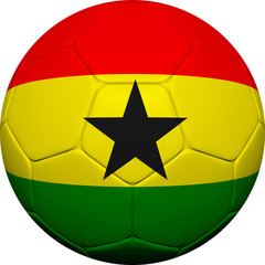Ghanian Flag With Soccer Ball