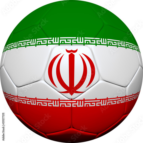 Iranian Flag With Soccer Ball