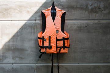 Hanging old life saving vest
