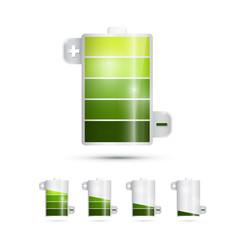Vector Battery Life Symbols Isolated on White Background