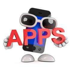 Smartphone advertises apps