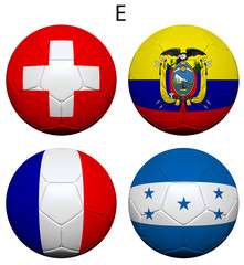 Soccer Championship 2014 Group E Flags
