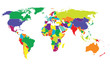 World Map Vector color