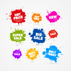Colorful Vector Sale Blots Icons