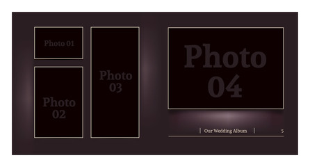 Wedding album design mock-up