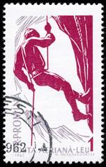 ROMANIA - CIRCA 1961: A stamp printed in Romania shows Mountain