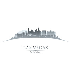 Las Vegas Nevada city skyline silhouette white background