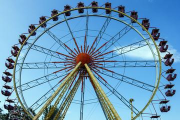 Ferris wheel in the attraction park in Odessa, Ukraine