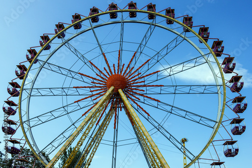Ferris wheel in the attraction park in Odessa, Ukraine