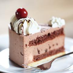 Schwarzwälder Kirsch / Schokoladentorte - Makro
