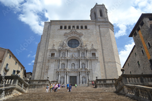View of cathedral in Girona.