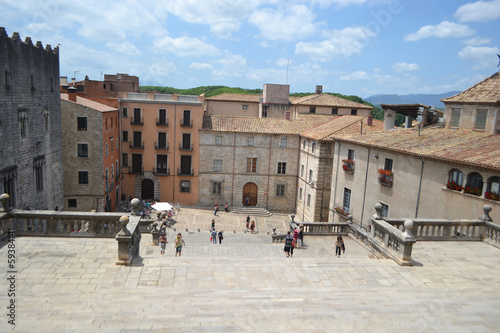 Square in the center of Girona