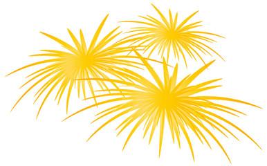 Silvester - Feuerwerk - gelb leuchtend