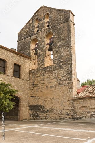 Castellet Castle near Foix dam at Barcelona, Spain