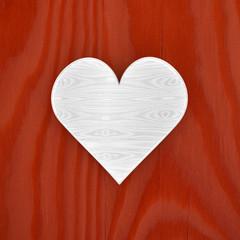 Biglietto con cuore simbolo amore