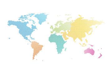 Welt Karte Punkte Farben