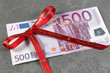 Etrennes, cadeau, 500 euros
