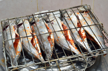 Fish ready to grill
