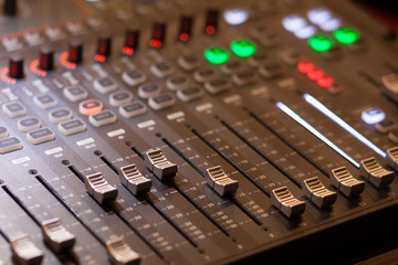 audio mixing in studio