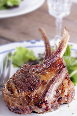 Lamb chop steak
