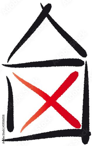 Haus strichzeichnung  GamesAgeddon - Haus vom Nikolaus, abstraktes Symbol ...