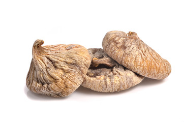 dried figs on the white background