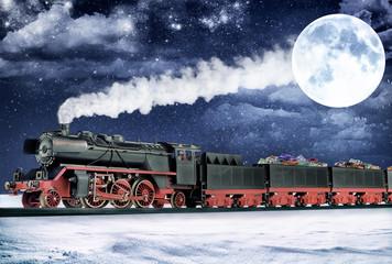 Treno di Babbo Natale al polo