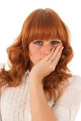 Portrait sad woman