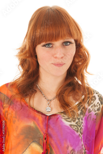 Portrait red haired girl