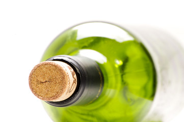 Empty wine bottle close-up