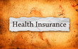 health insurance title on old paper