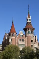 Casa de les Punxes o Casa Terrades en Barcelona, España