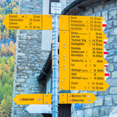Famous swiss city Zermatt in the valley