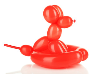 Simple balloon animal dog, isolated on white