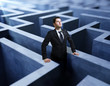 businessman in maze